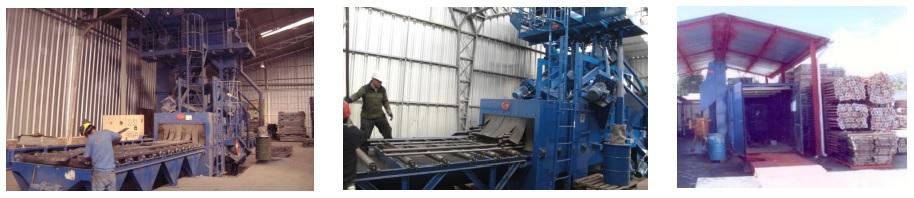 equipos para granallado de andamios y estructuras tubulares