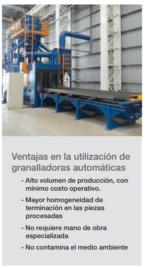 ventajas de la utilizacion de granalladoras automaticas