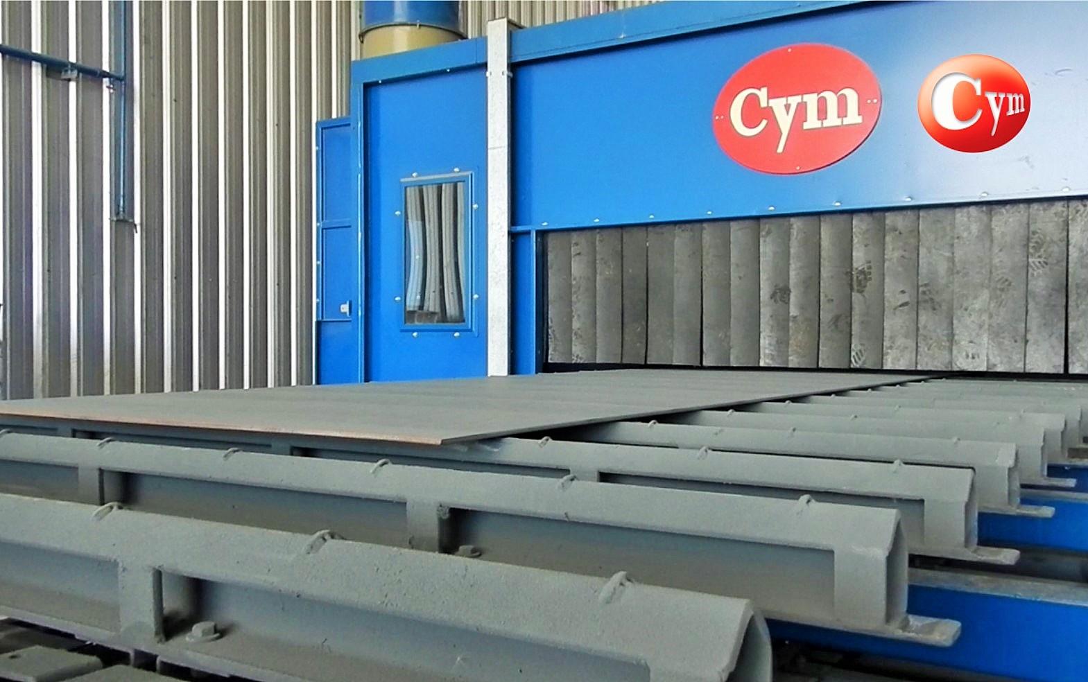 linea-de-granallado-y-pintado-de-chapas-pasaje-horizontal-transportador-de-cadena-pintura-CH2.5H-cym