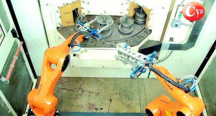 shot-peening-de-discos-de-embragues-carga-automatica-con-robots-cymmaterialesSA4